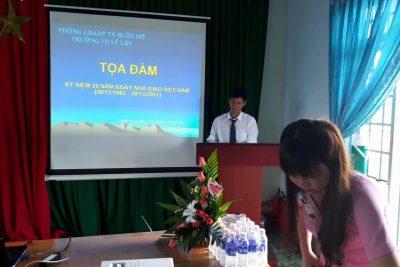 Các hoạt động chào mừng ngày 20/11 của cô và trò trường tiểu học Lê Lợi