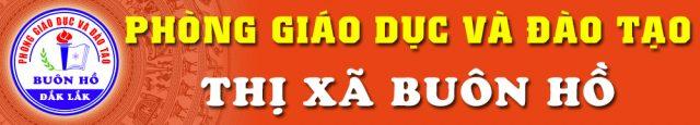 Phòng GD&ĐT Thị xã Buôn Hồ
